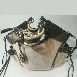 Francesco Biasia Handbag Satchel Tote EUC